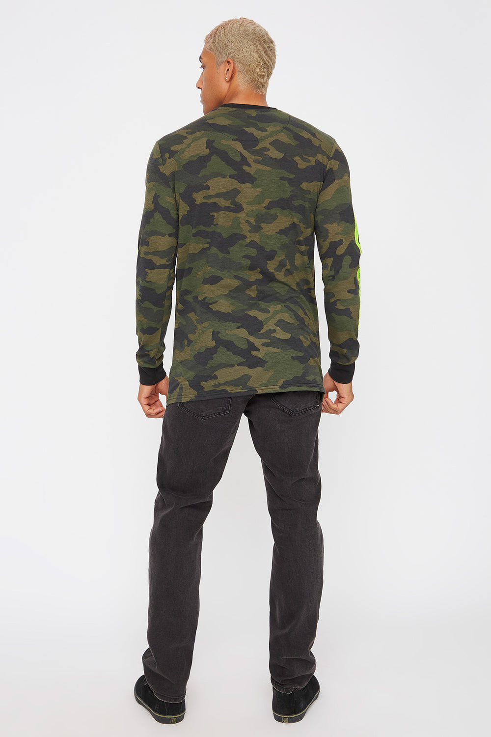 Graphic Neon Camo Long Sleeve Camouflage