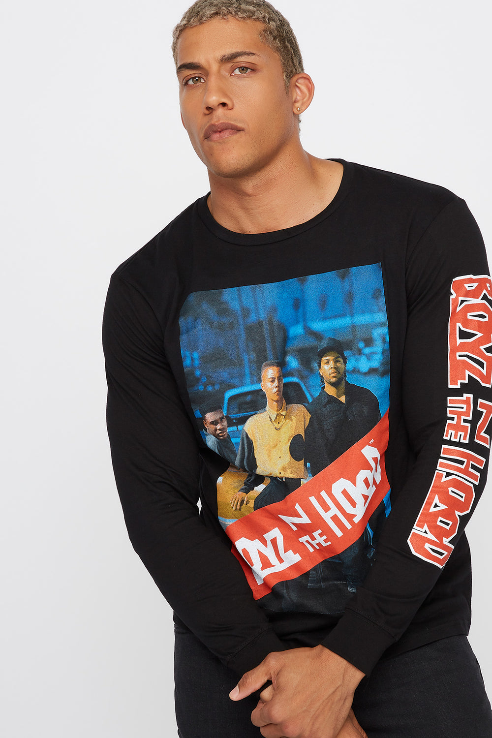Boyz In The Hood Graphic Crew Neck Long Sleeve Black