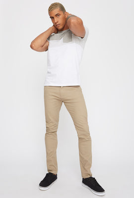 Low-Rise Twill Skinny Pant