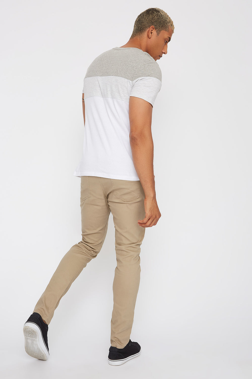 Low-Rise Twill Skinny Pant Sand