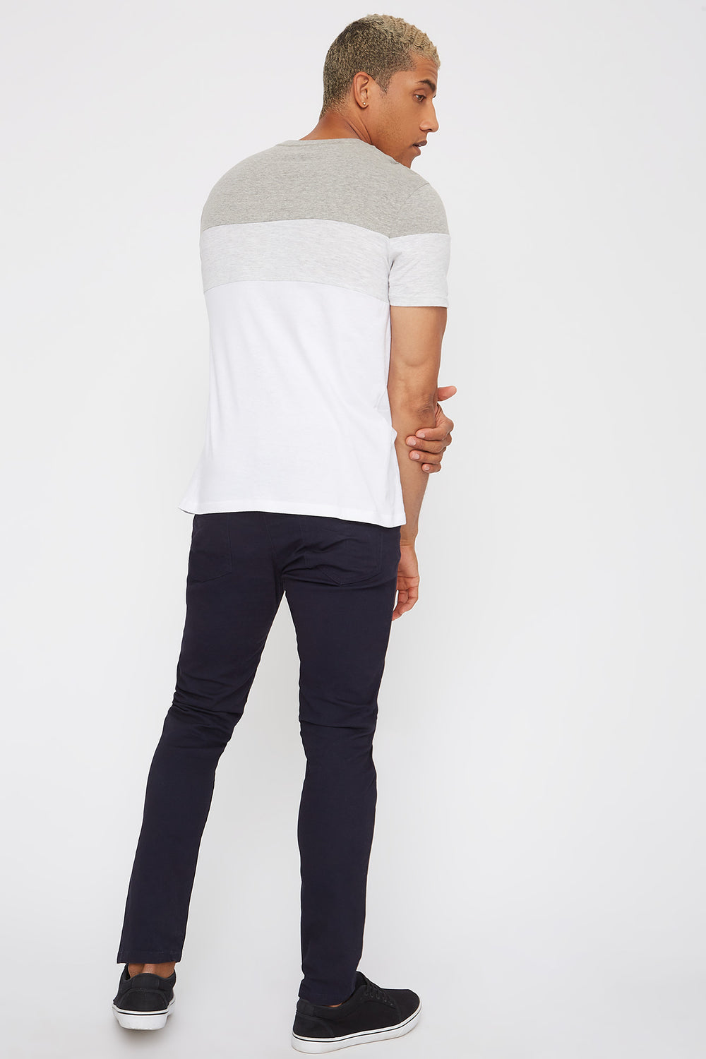 Low-Rise Twill Skinny Pant Navy