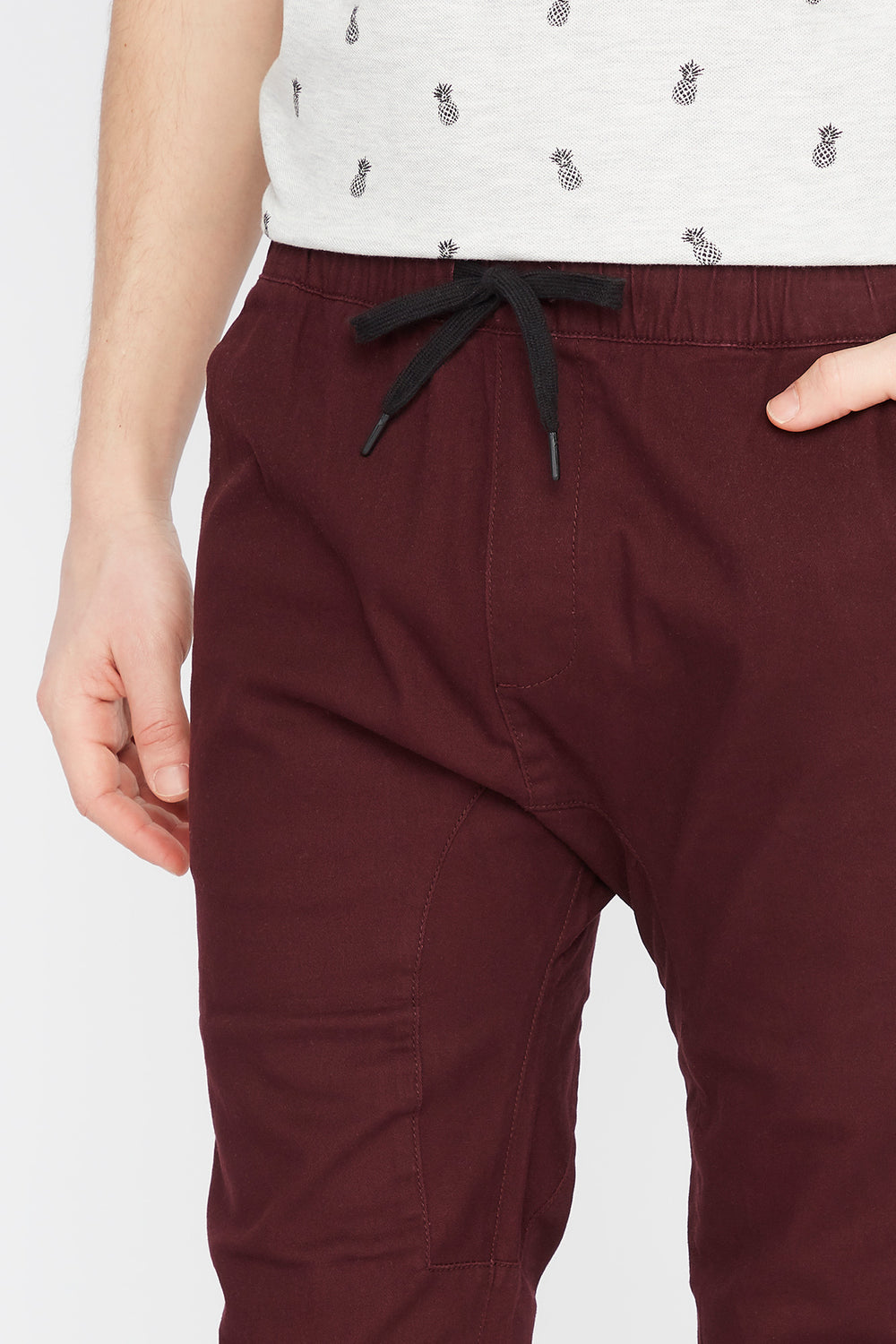 Classic Twill Jogger Burgundy