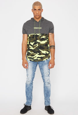 Acid Wash Distressed Skinny Jean