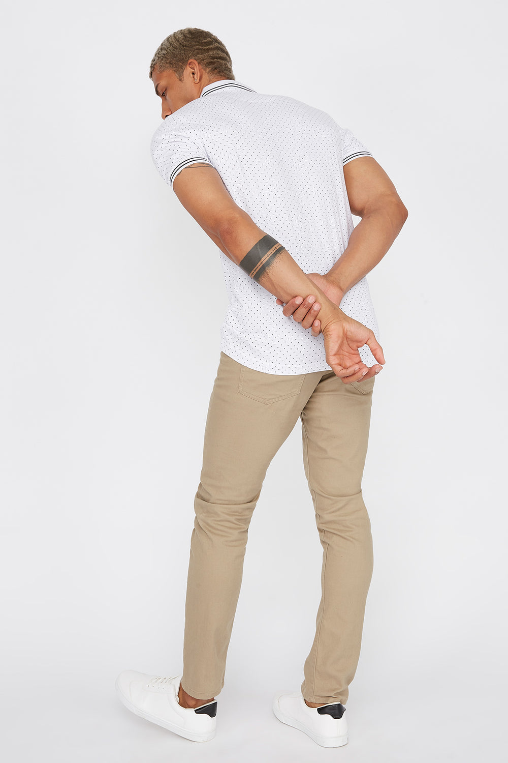 Dotted Polo T-Shirt White