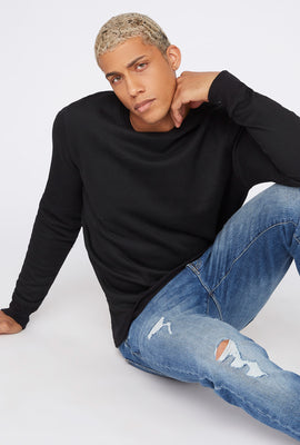 Basic Fleece Crew Neck Sweater