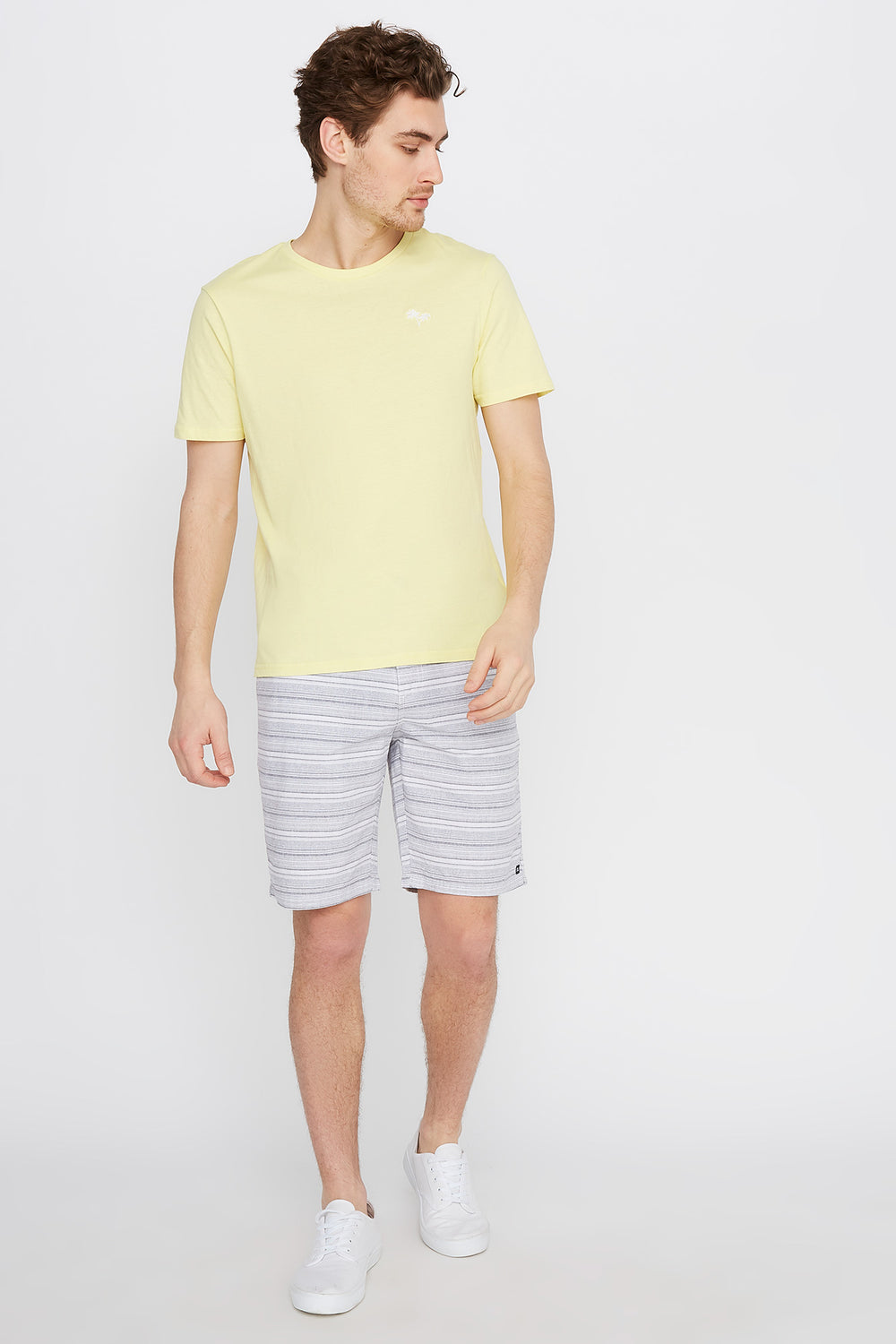 Striped Street Short Charcoal