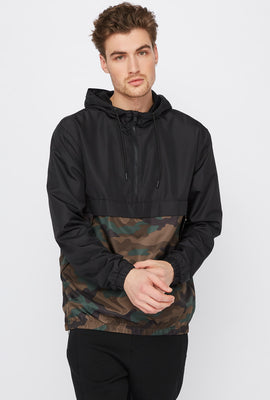 Camo Block Anorak Windbreaker Jacket