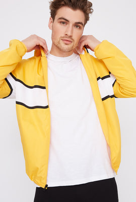 Striped  Zip-Up Windbreaker Jacket