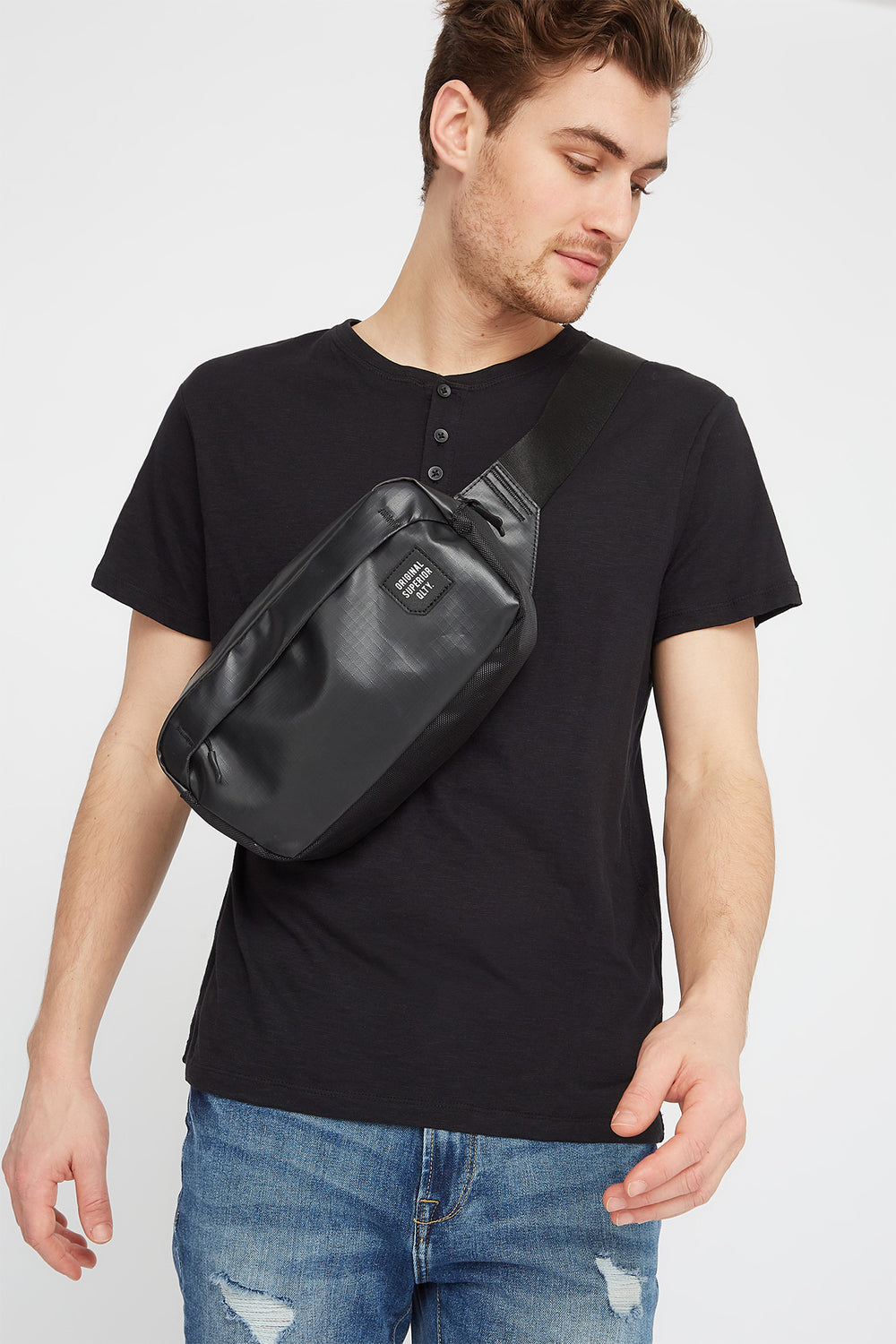 Original Graphic Faux-Leather Fanny Pack Black