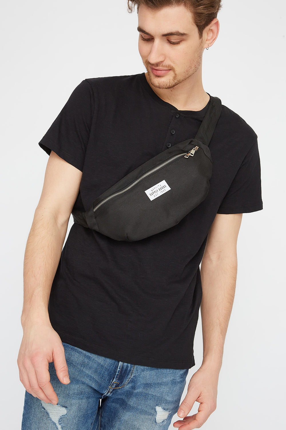 Quality Supply Goods Graphic Fanny Pack Black