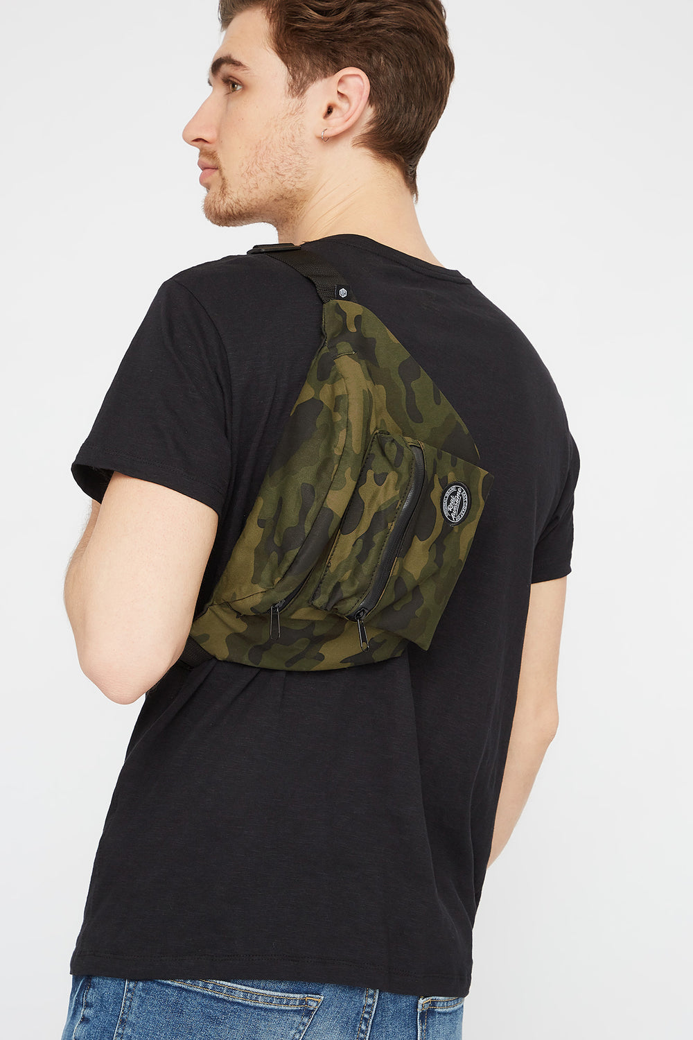 Real Awesome Graphic Camo Fanny Pack Camouflage