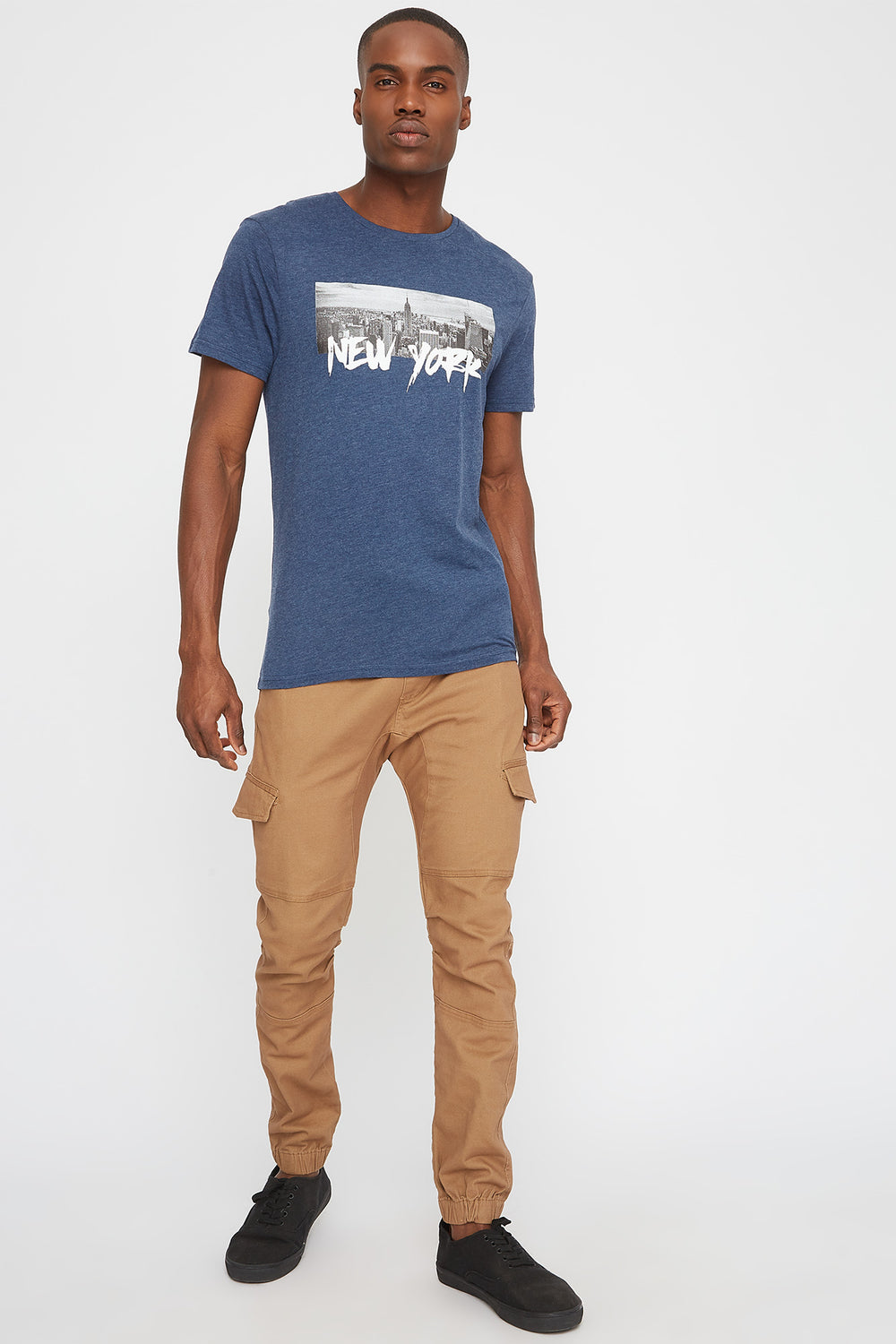 New York Graphic T-Shirt Denim Blue