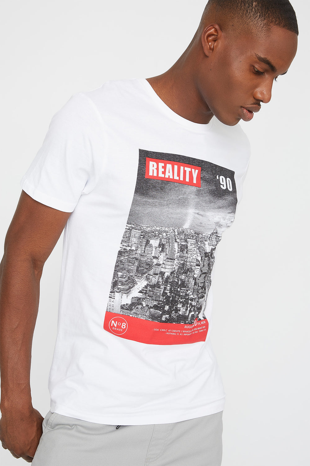 Reality '90 Graphic T-Shirt White