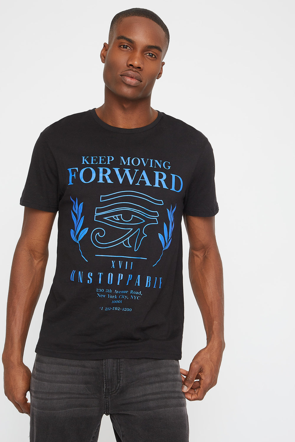 Moving Forward Graphic T-Shirt Black