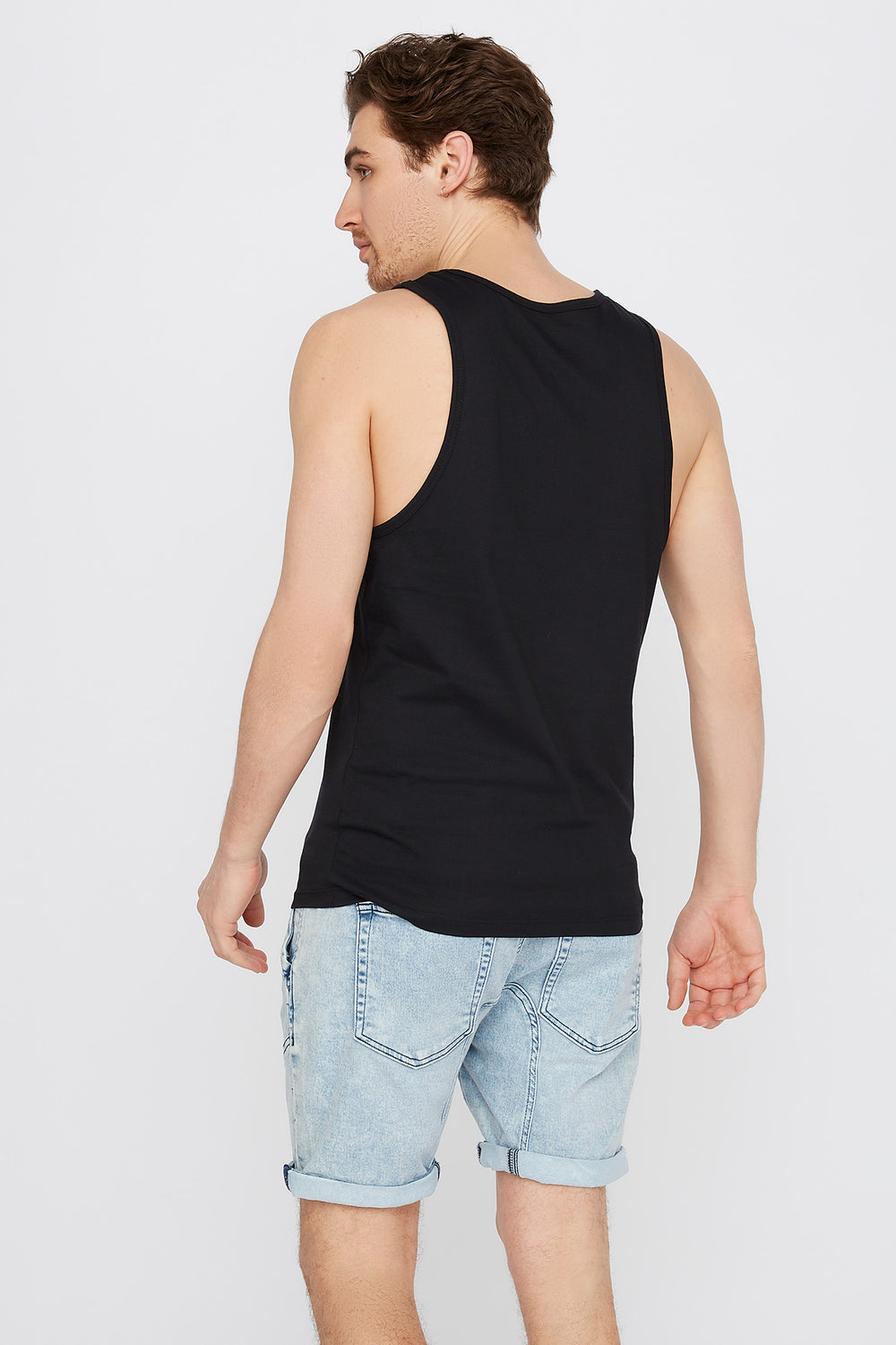 Graphic New York Tank Black