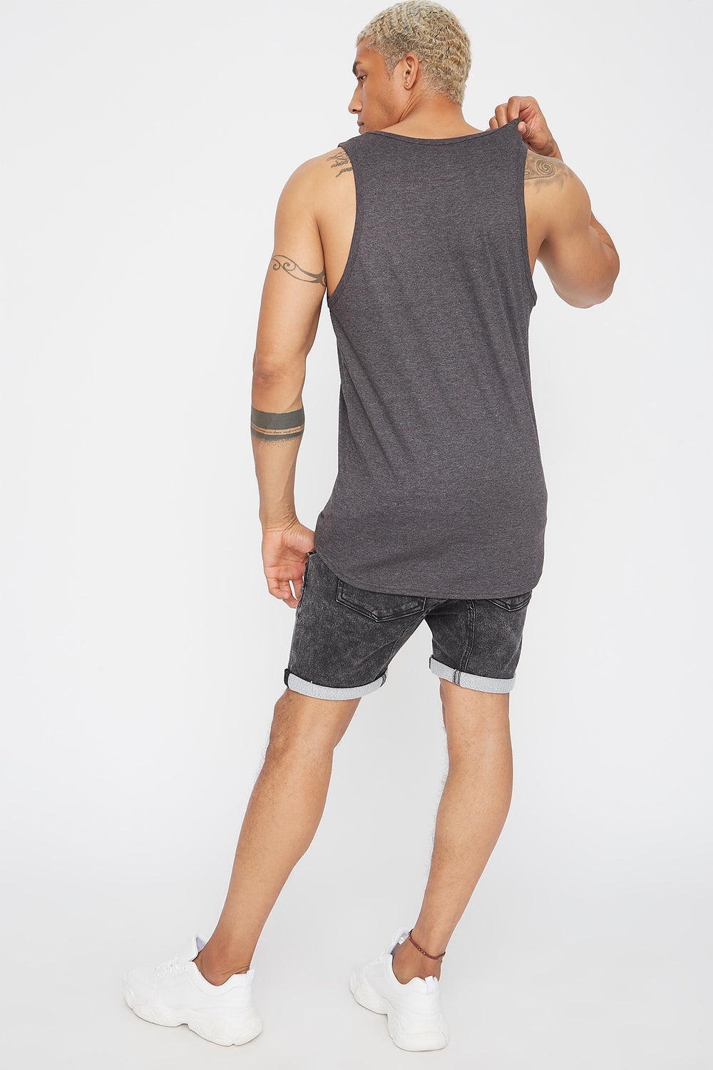 Solid Basic Tank Charcoal