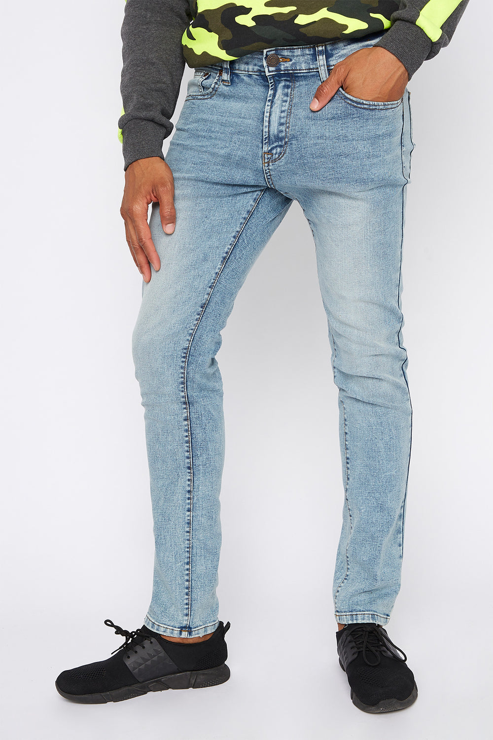 Light Wash Skinny Jean Light Denim Blue