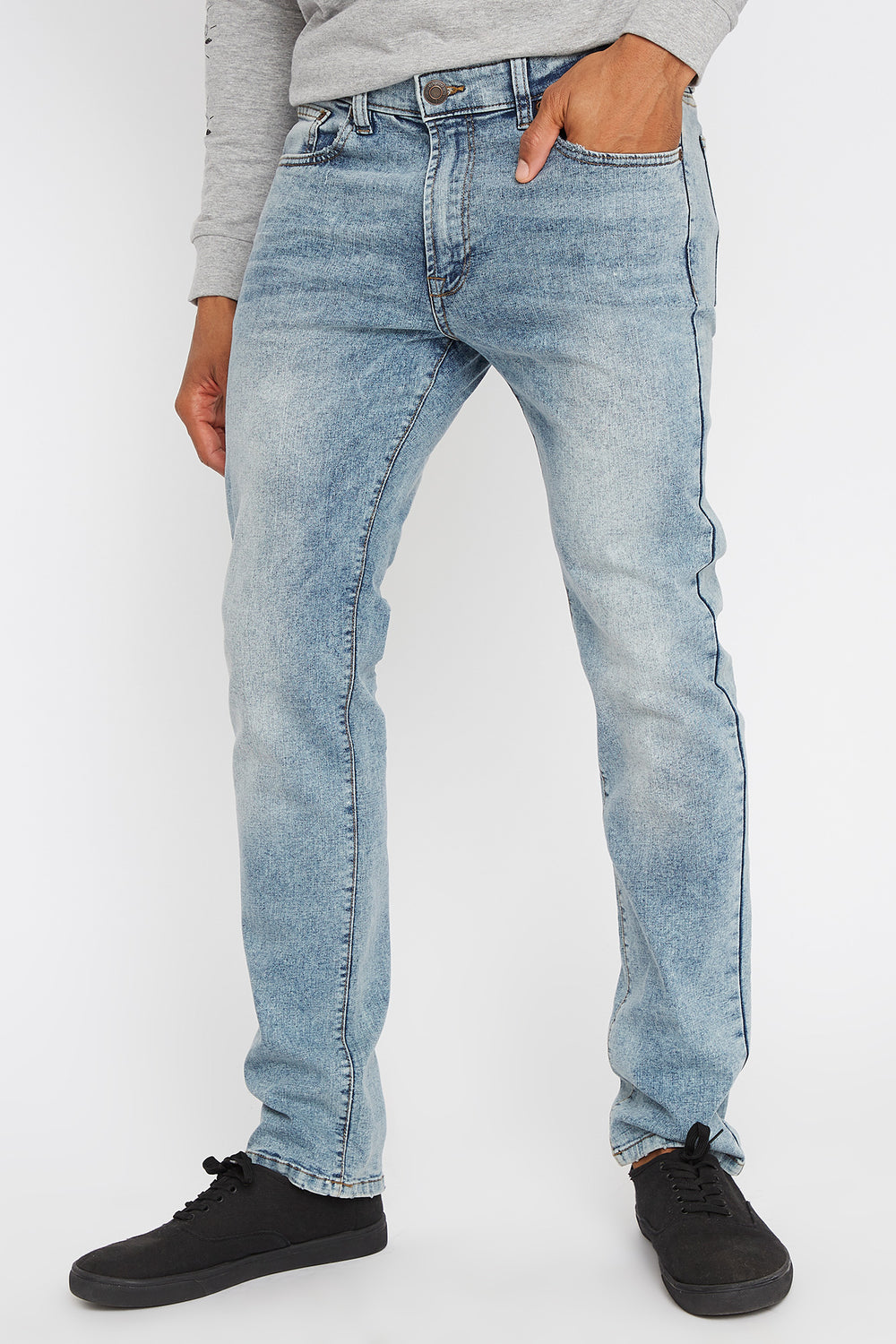 Light Wash Stretch Slim Jean Light Denim Blue