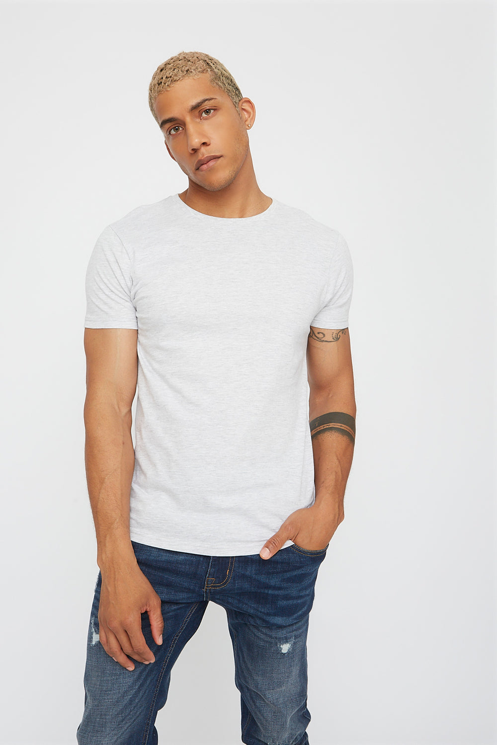 Basic Crew Neck T-Shirt Oatmeal