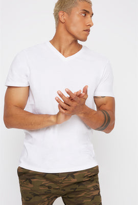 Solid Basic V-Neck T-Shirt