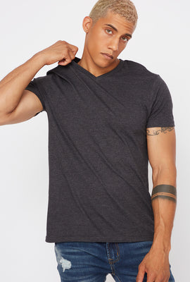 Brushed Basic V-Neck T-Shirt