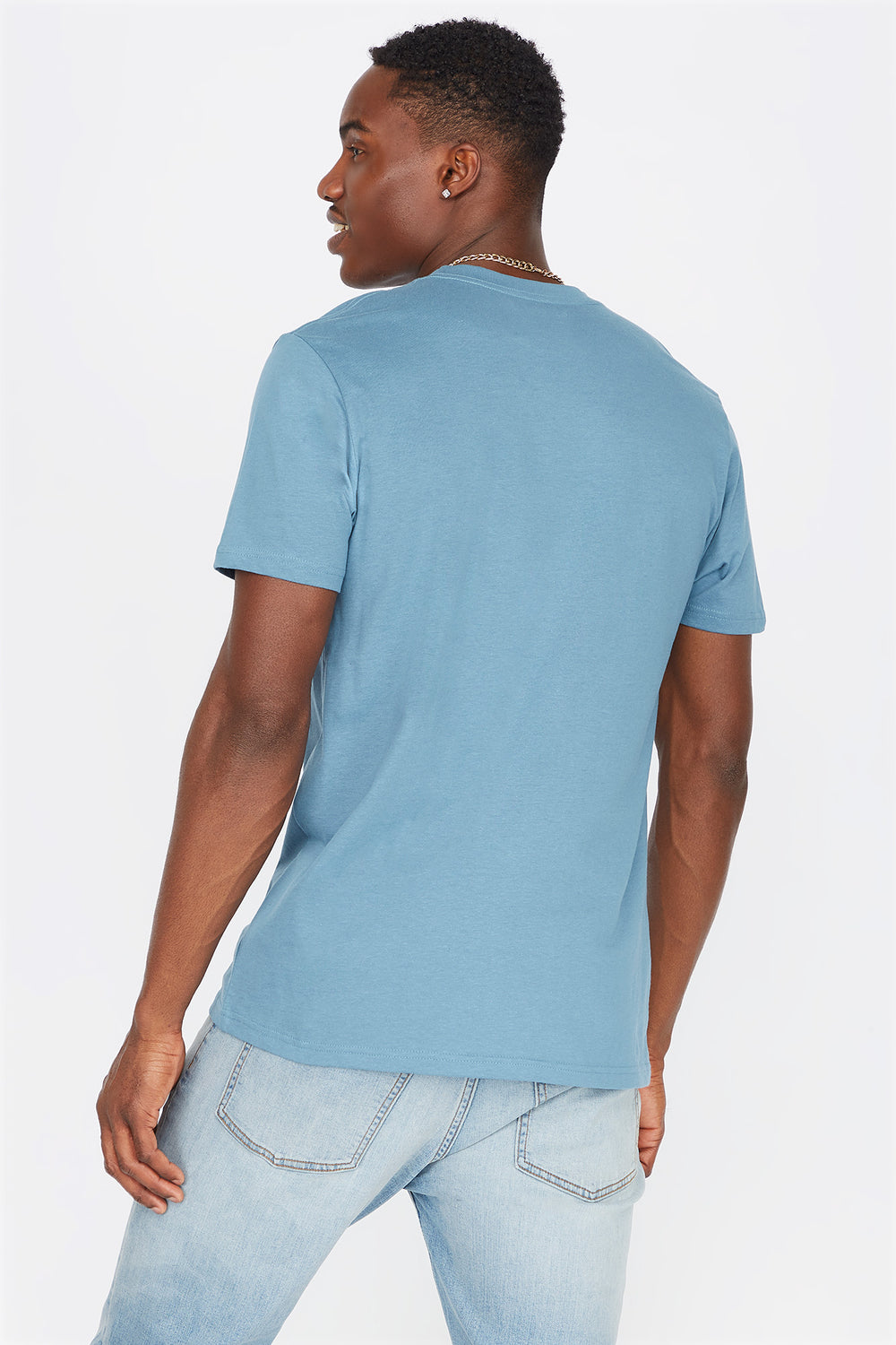 Everyday Basic Crew Neck T-Shirt Light Denim Blue