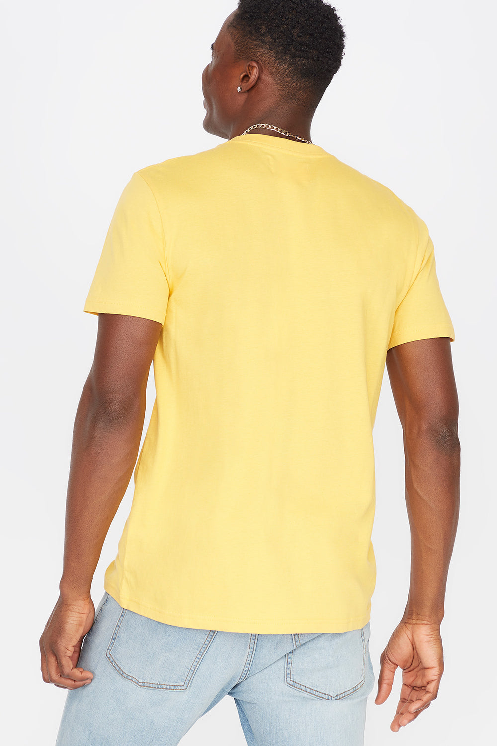 Everyday Basic Crew Neck T-Shirt Yellow