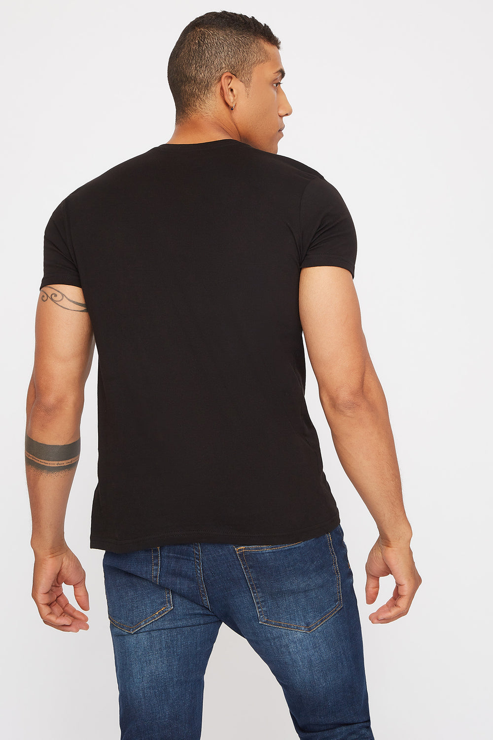 Basic Henley T-Shirt Black