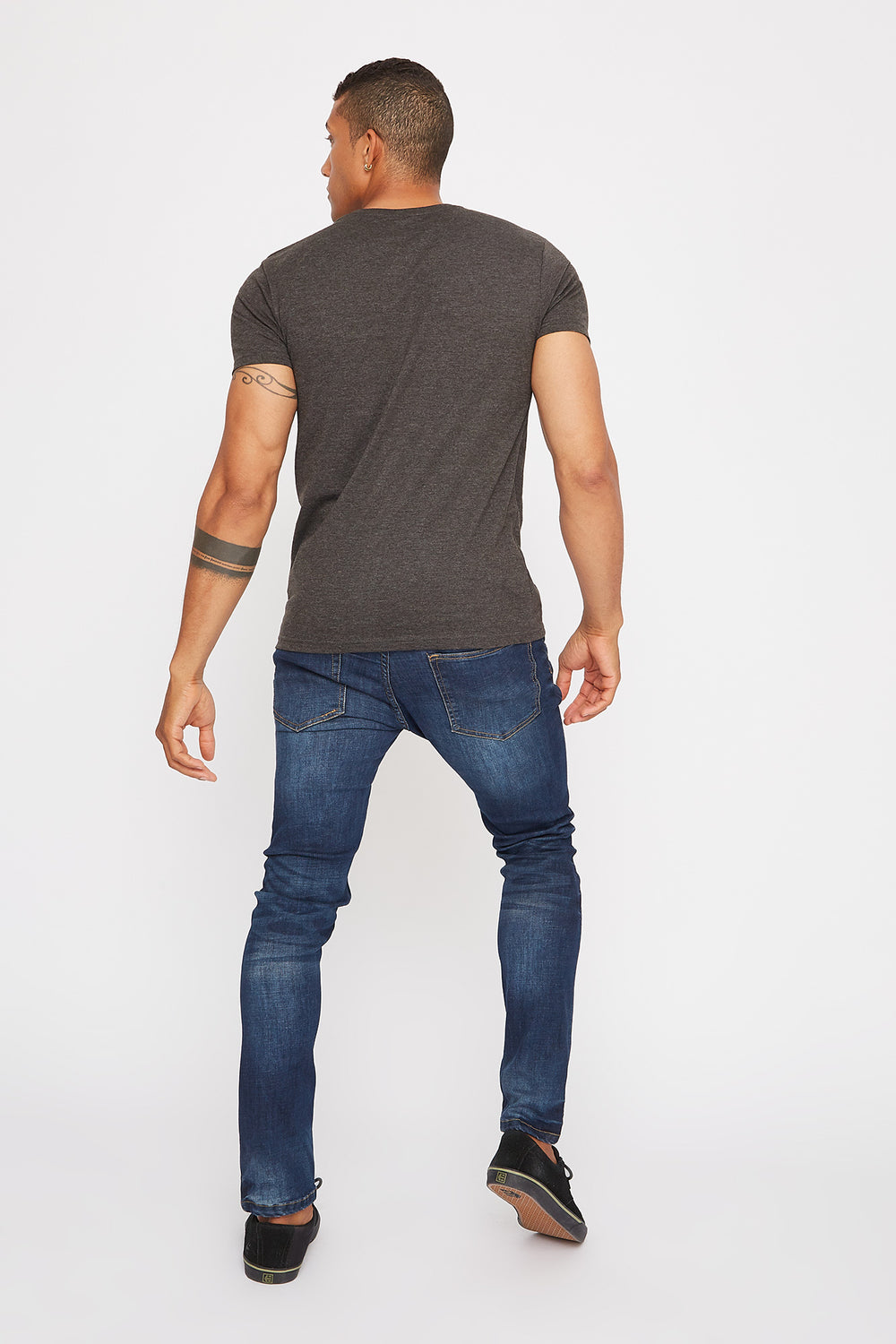 Basic Henley T-Shirt Charcoal