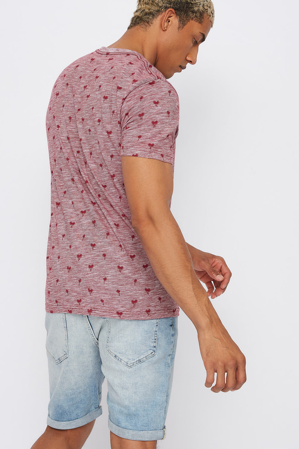 Palm Tree Pocket T-Shirt Red