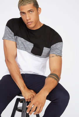 Colour Block Patch Pocket T-Shirt