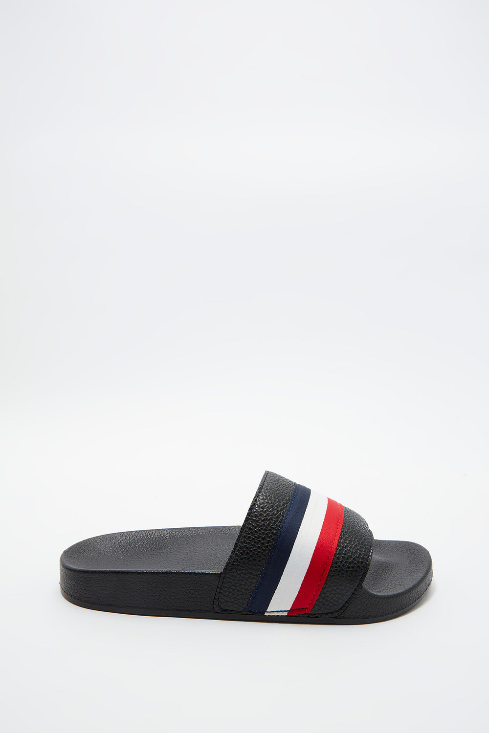 Contrast Stripe Slide Navy