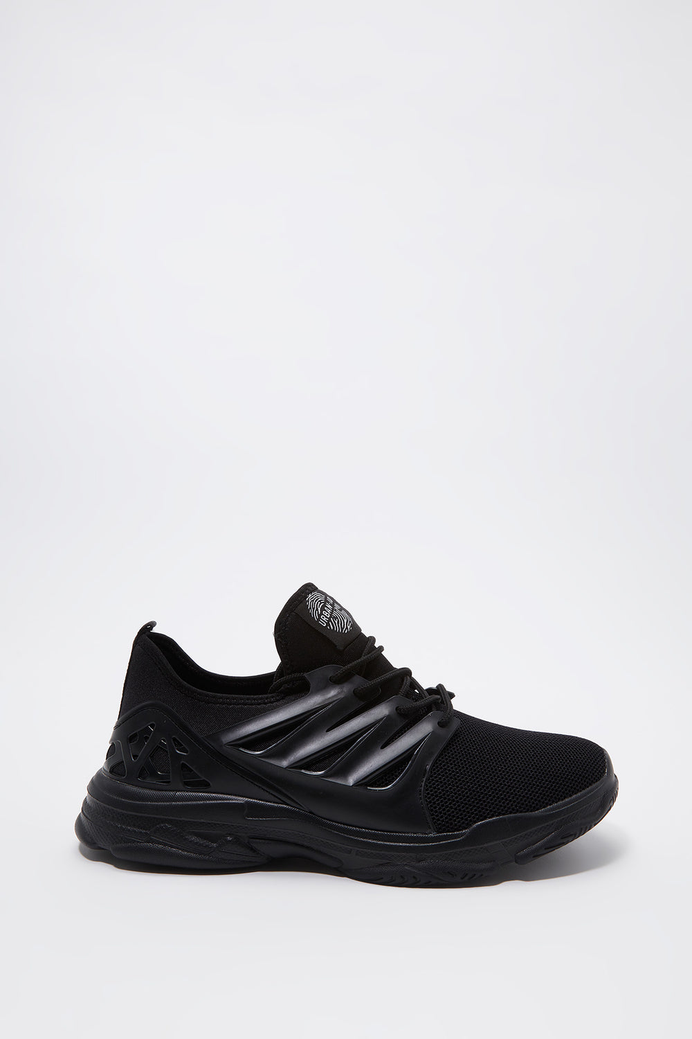 Knit Caged Athletic Sneaker Black