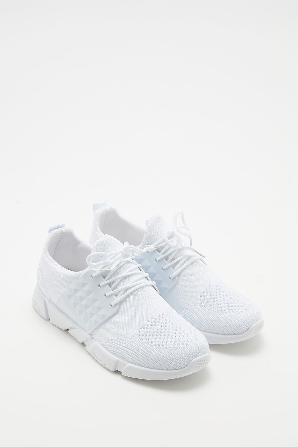 Side Caged Athletic Sneaker White