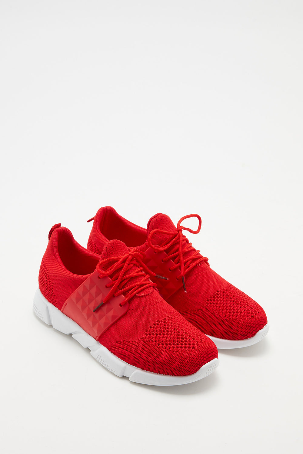 Side Caged Athletic Sneaker Red