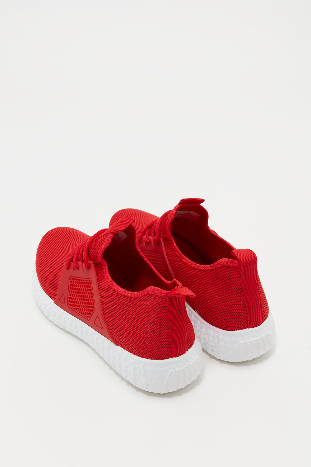 Knit Lace-Up Active Sneaker Red