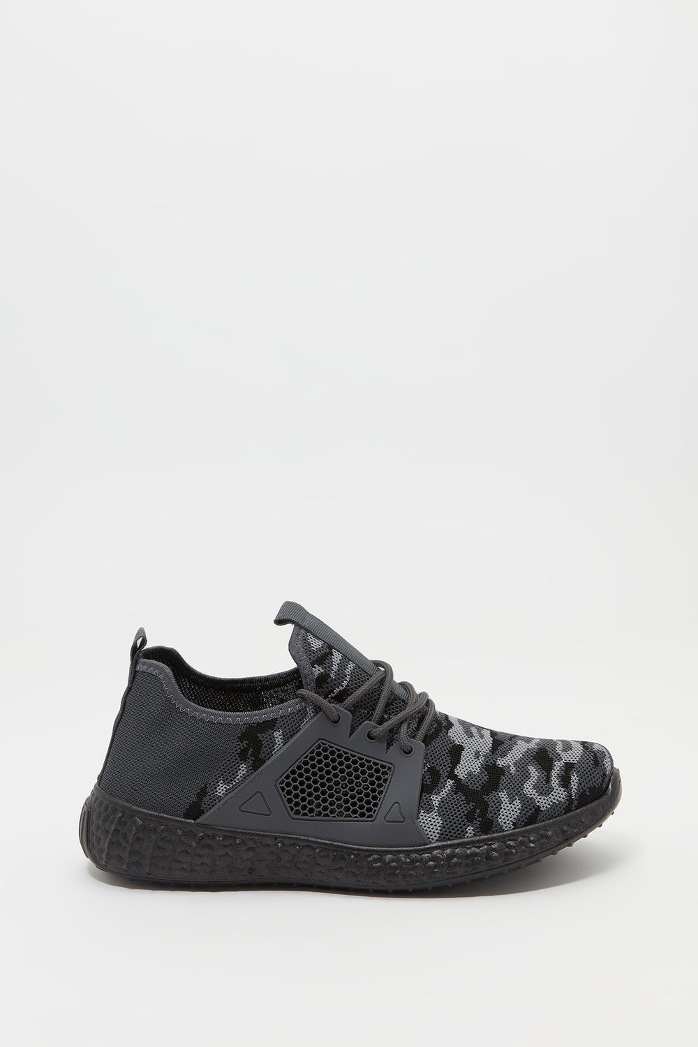 Knit Lace-Up Active Sneaker Camouflage