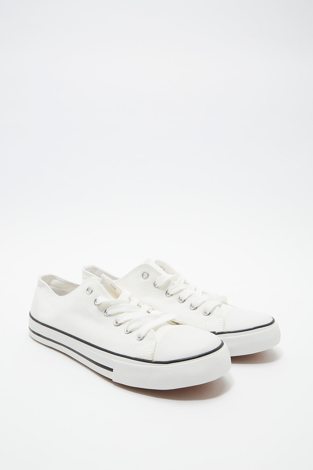 Basic Low Top Lace-Up Sneaker White