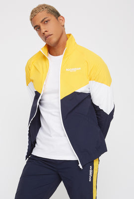 Rocawear Colour Block Zip-Up Windbreaker Jacket