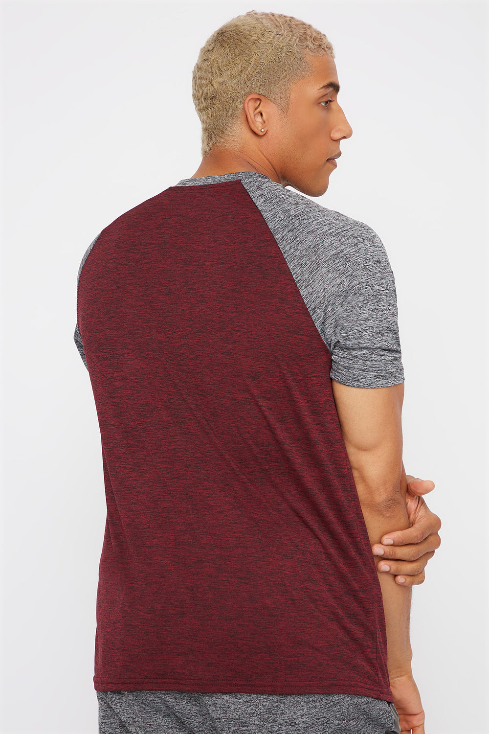 Contrast Active T-Shirt Burgundy