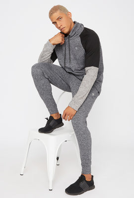 Faux-Leather Side Stripe Jogger