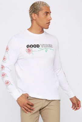 Good Vibes Rose Sweatshirt