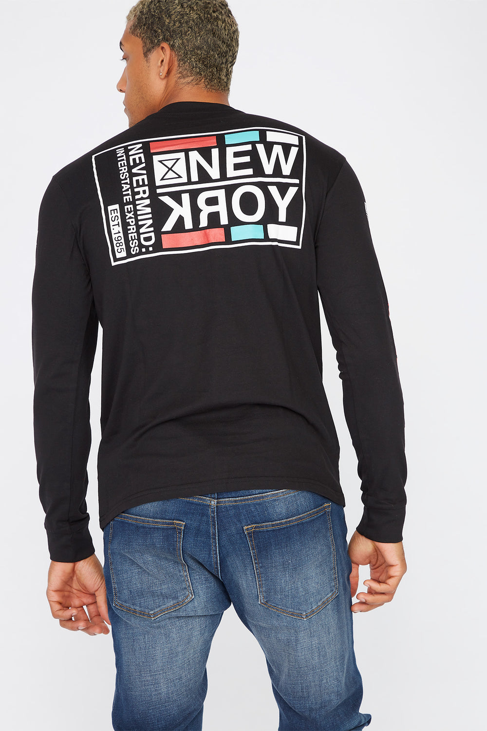 Graphic New York Long Sleeve Black