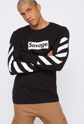 Savage Box Stripe Sweatshirt