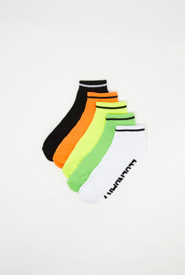 Neon Ankle Socks (5 PK)