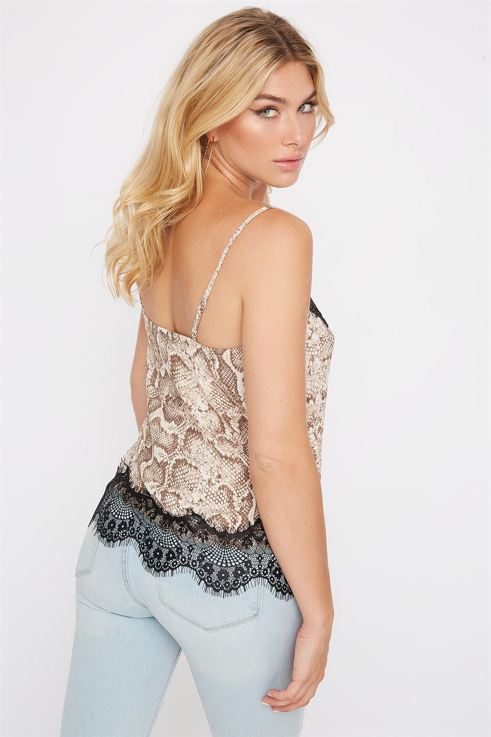 Snake Lace Camisole Tan