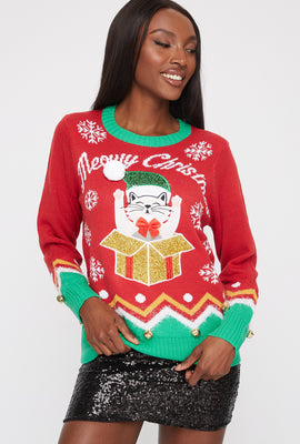 Cat Gift Ugly Christmas Sweater