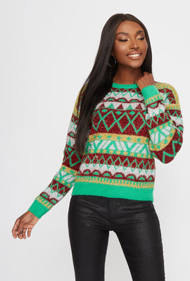 Ugly Christmas Tinsel Sweater