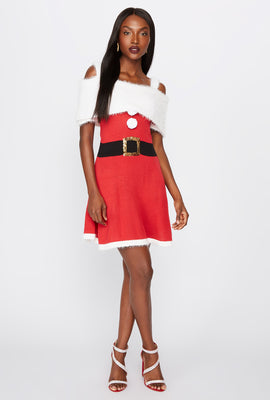 Robe à imprimé Mrs. Claus Christmas