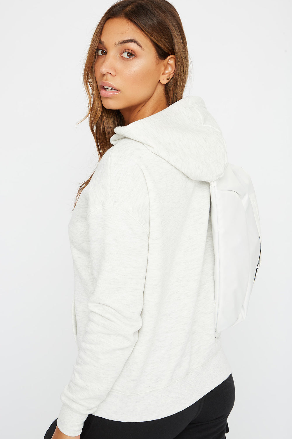 Drawstring Hoodie Heather Grey
